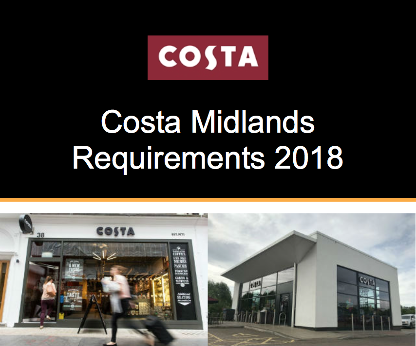 OPPORTUNITY – Costa Midlands 2018